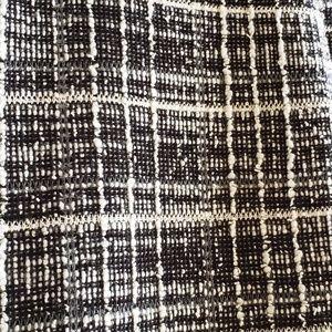 Zara Pants - Zara Plaid Gingham Cropped Frayed Pants Small